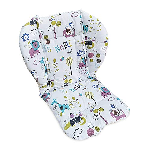 High Chair Pad,highchair/seat Cushion/seat Pad,Soft and Comfortable, Light and Breathable, Cute Patterns, Make The Baby More Comfortable(Jungle Animal Pattern)