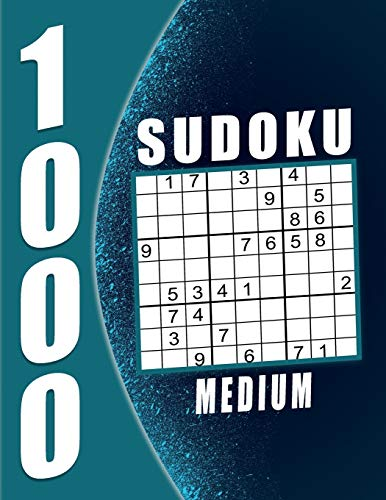 Sudoku Puzzle Book Medium: 1000 Puzzles 9x9 Sudokus for Adults with...