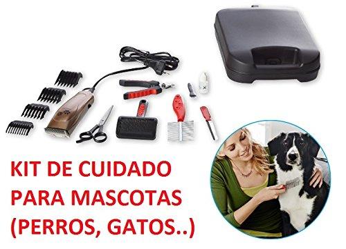 Verzorgingsset voor honden en katten met 13 accessoires + koffer, tondeuse, schaar