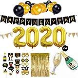 SicurezzaPrima Silvester Deko 2020 Party Set XXL - 44-teilig - Neujahr Silvesterdeko - Girlanden,...
