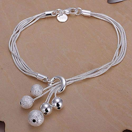 PiniceCore 925 Jewelry Silver Plated Jewelry Bracelet Fine Fashion Bracelet