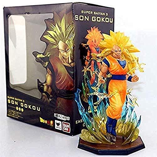kyman Personajes de Anime Zero Dragon Ball Z Son Goku Super Saiyan 3 Figura DBZ Cepillo de Chocolate Colección de Sangre Saiyan 18cm LSJ795