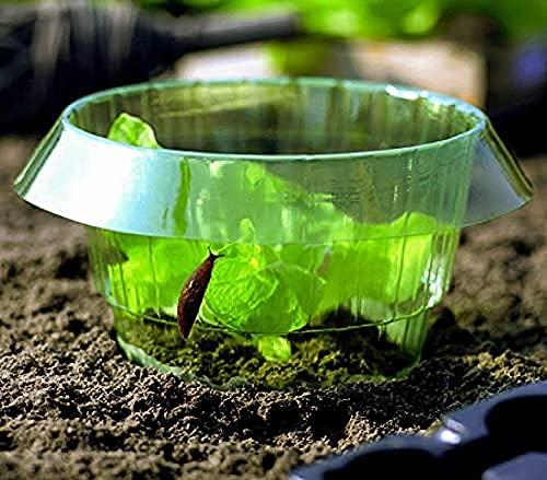 LUOWAN Schneckenschutz, Schneckenhalsband für Salatpflanzen und Kohl zum Schutz der Pflanzen vor Tieren 12 Stück