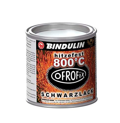 Ofenrohr Lack OFROFIX bis 800°C hitzefest, Ofenrohrlack, 250 ml Metalldose für Maschine Motor Herd Ofen Guss Metall, Farbe: schwarz mattglanz