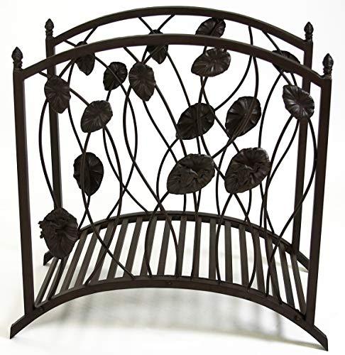 GeKi Trend Pont de jardin décoratif en métal fer forgé avec rampe
