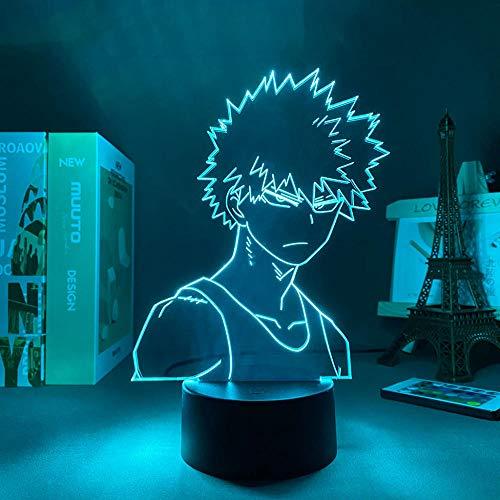 3D noche luz led panel luces anime figura mi héroe Academia Bakugo 3D lámpara manga gadget regalo día de San Valentín niños noche luz anime luz zglq