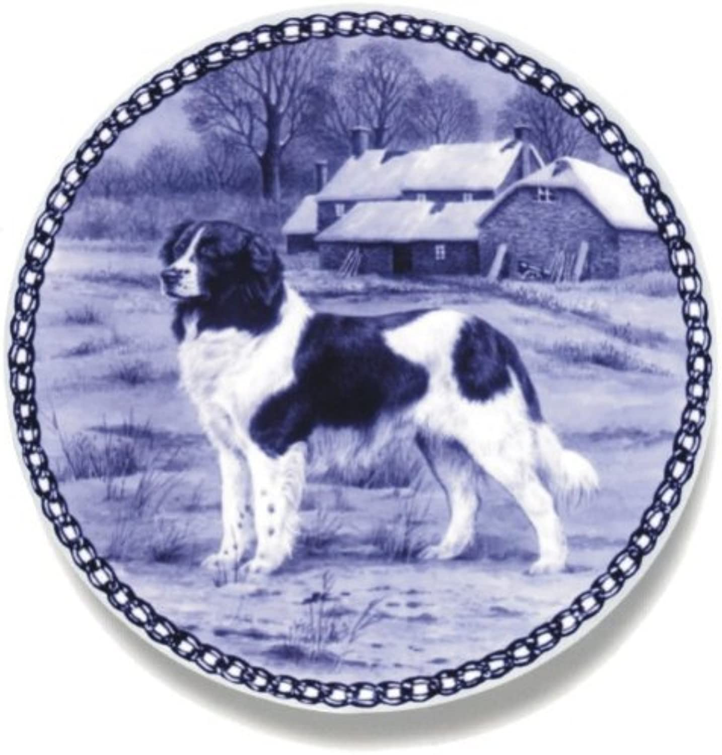 Drentse Patrijshond Lekven Design Dog Plate 19.5 cm  7.61 inches Made in Denmark NEW with certificate of origin PLATE  7454