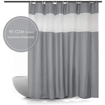Charcoal Eforcurtain 78 Inch Width by 84 Inch Length Heavy Duty Waffle Shower Curtain Fabric Waterproof Bathroom Curtain Home Fashion