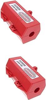 Perfk 2 Pcs Large Plug Lockout Device, Accommodates Up to 4 Padlocks