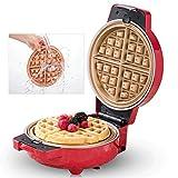 YLGAN Macchina per Waffle con Controllo della Temperatura, Strumento per Waffle in Alluminio Pressofuso,Dimensioni Compatte,850W [Classe di Efficienza Energetica A+++]