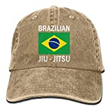 jingqi Unisex Baseball Cap Brazilian Jiu Jitsu Washed Denim Dad Hat for Women