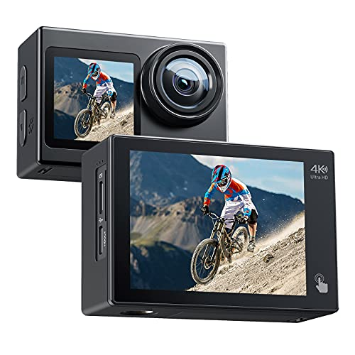 Action Camera 4K 20MP Dual Screen W…