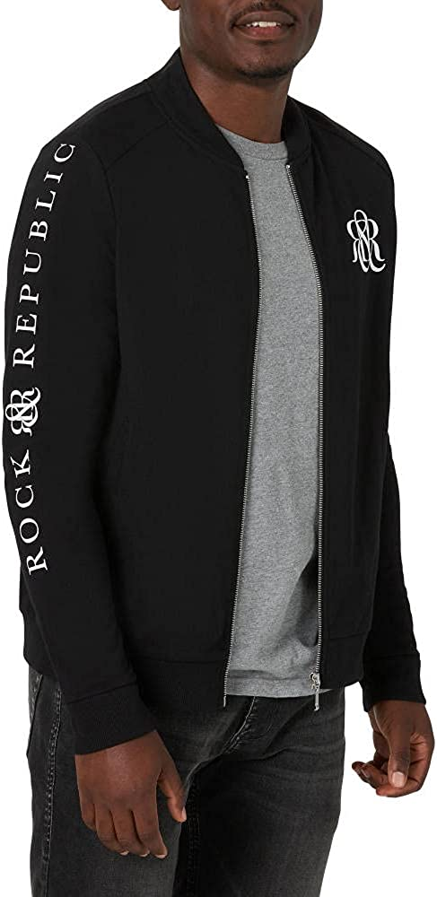 Rock Republic Men's French Zip Free Finally popular brand Shipping New Terry Up Jacket