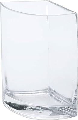 ポピー(Popy) 花器 セミサークルガラスベース W15cm×D9cm×H20cm RGB-771