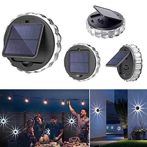 Luces de pared al aire libre Luces de pared solares de montaje en pared luces solares al aire libre luces solares al aire libre adecuado para patios, terrazas, escaleras, pasos (4 unidades)