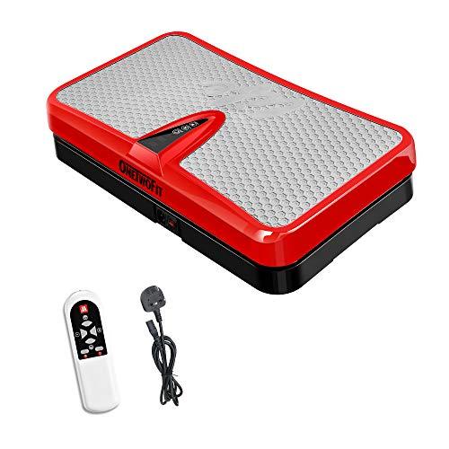ONETWOFIT Plataforma de vibración Fitness, Placa de vibración Todo el Cuerpo máquina de Entrenamiento Entrenamiento Entrenador para el hogar Rojo OT109