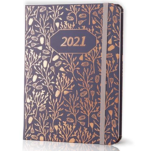 KASZOO Kalender 2021,Wochenkalender, Wochenplaner,Terminkalender mit Monatsübersichten, Rechnungstrackern, Notizseiten,Gesäßtasche,fester Einband (17 x 12,5 cm)