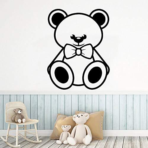 Quszpm Bear Wall Sticker Pvc Baby Room Kids Room Family Decoration Wall Decal Bedroom 43cm X 55cm