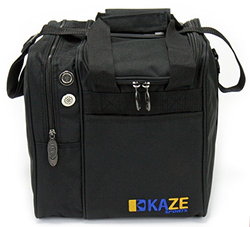 KAZE SPORTS Deluxe Single Ball Bowling Tote Bag
