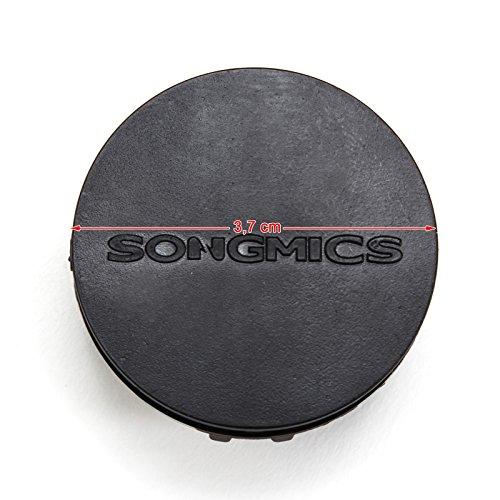 SONGMICSシューズラック5段10個ラックセット組み立て式ハンマー付きシューズボックスオープンラックオープンシェルフ収納ラック半透明NLPC20W