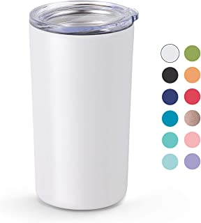 Maars Skinny Mini Stainless Steel Insulated Kid's Tumbler with Lid, 12 oz Double Wall for Coffee, Tea, Juice - Matte Black Cup   Travel Friendly, Compact Size