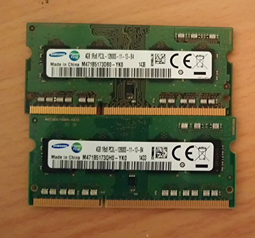 Samsung 8GB Dual Channel Kit (2X 4GB) DDR3 1600MHz (PC3L 12800S) SO Dimm Low Voltage Notebook Laptop Arbeitsspeicher RAM Memory