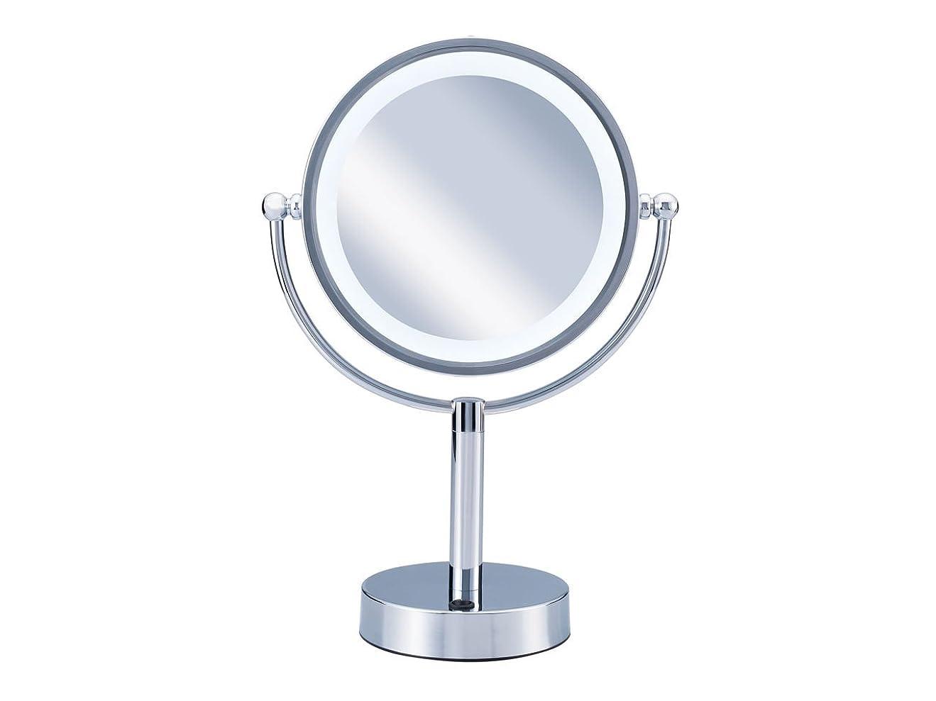 抑圧する不公平勤勉なコイズミ 拡大鏡 LEDライト付き 中型φ145mm KBE-3010/S