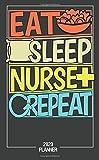 Eat Sleep Nurse Repeat 2020 PLANNER: Pocket Calendar 2020 Monthly Pocket Planner & Calendar (Jan 2020 - Dec 2020) Personalized Planner Phone, Email, Book Gift For Nures.