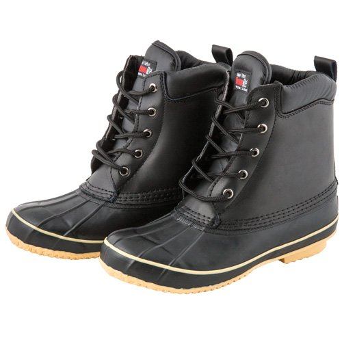 SkaDoo Mens Black High Top Duck Snow Boots with Insulation 7 M US