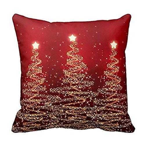 Kissenbezug 45 x 45 cm Frohe Weihnachten Kissenbezüge Baumwolle Leinen Sofa Bett Auto Home Decor Festival Kissenhülle LuckyGirls (B)