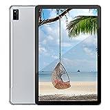 Tablette Blackview Tab10 4G LTE + WiFi avec 10,1'' FHD, Android 11, 4 Go de RAM + 64 Go de ROM, 128 Go Extensible, Octa-Core, Batterie 7480mAh, 13MP + 8MP, GPS/Bluetooth/Face ID/OTG -Argent