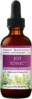 Urban Moonshine Joy Tonic | Organic Herbal Supplement for Occasional Anxiety | Motherwort & Lemon Balm | 2 FL OZ (Pack of 1)
