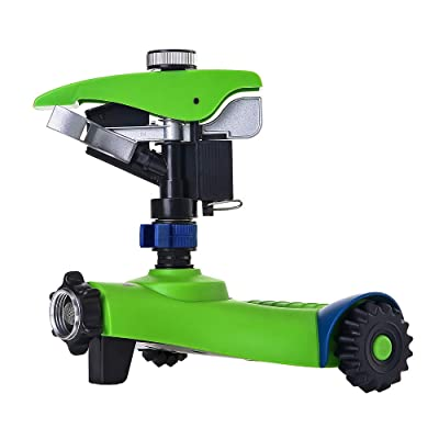 GREEN MOUNT Lawn Sprinkler, Automatic 360 Rotat...
