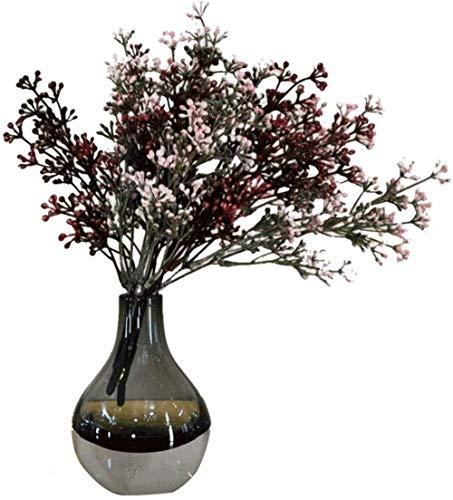 Zwarte glazen vaas Flowers/Droge Bloem Bloem Arrangeur for Home Decoration Ornamenten zonder bloemen