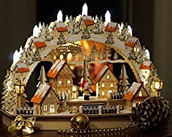 Wichtelstube Collection XL LED candle arch Christmas village Original Schwippbogen Erzgebirge