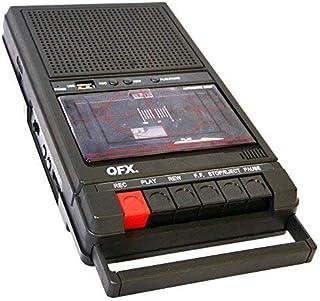 QFX RETRO39 SHOEBOX Tape Player Recorder USB Black