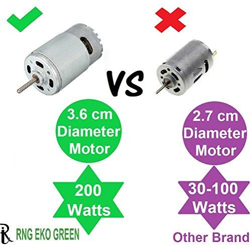 RNG EKO GREEN 200 Watt/6.5KPA Cyclonic Power Wet/Dry Car Vacuum Cleaner - White (12V)
