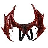 BaronHong Halloween Mardi Gras Costume Cosplay Demon Dragon Wings for Adult(red,M)