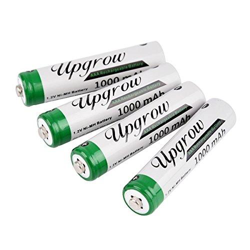 Upgrow 4X AAA Akkus Aufladbare NI-MH Akkus AAA Batterien 1000mAh AAA Akku Mit Batterie Aufbewahrungsbox