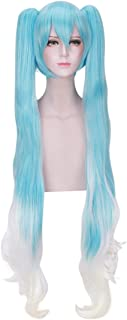 DAZCOS Snow Miku Hatsune Lolita Princess Cosplay Wig 120cm (Blue mix White)