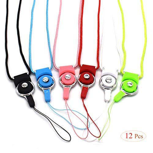 Xiuyer 12 Stück Schlüsselband Umhängeband Multifunktionale Lanyard mit Abnehmbarer Gürtelschnalle Neck Strap für Mobile Handys Schlüssel ID Karte(6 Farben, 40cm)