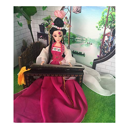 Siunwdiy Puppe einzigartige und Exklusive Dekor Oriental, chinesische Puppe Kostüm Antike Silk Puppen, Puppe Mädchen 12,5 Zoll für die Dekoration,#016