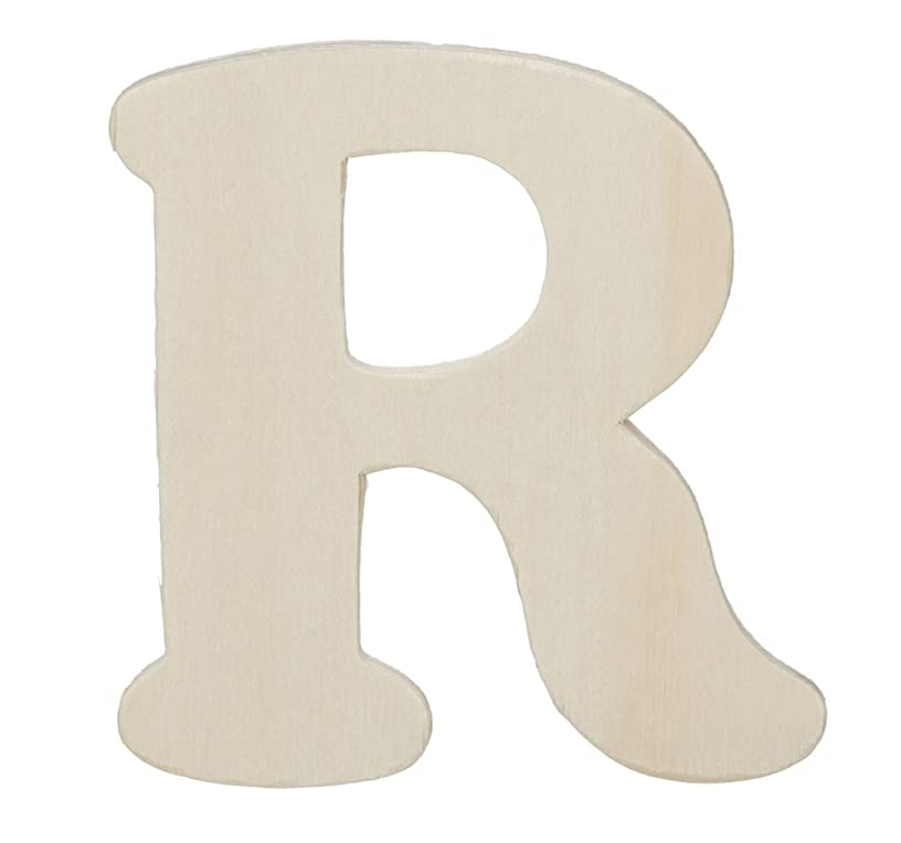 Darice 9181-R Wood Cutout, Letter R