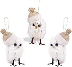 LONGBLE Cute Hanging Mini Owl Christmas Tree Topper Ornament for Home Party Winter Holiday Xmas Day Decor (3.9