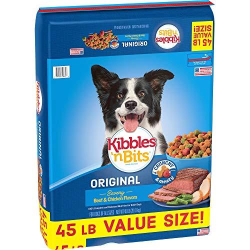 Kibbles #039N Bits 45 Lb Original Savory Beef amp Chicken Flavors Dry Dog Food Large