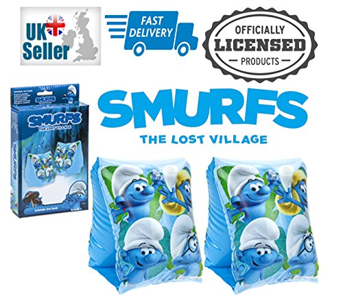 Schlümpfe The Lost Village Swim aufblasbare Schwimmen Arm Bands Official Merchandise Dunkelviolett