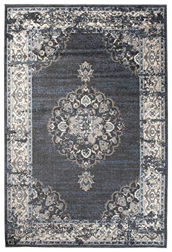 Carpeto Orientalisch Teppich Vintage 120 x 170 cm Grau