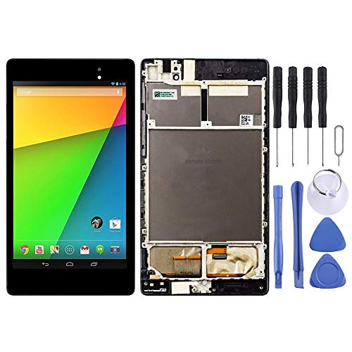 Dmtrab for LCD Screen and Digitizer Full Assembly with Frame for Asus Google Nexus 7 2nd 2013 ME571KL (3G Version)(Black) Lcd Screen Replacement Lcd Screen Replacement (Color : Black)