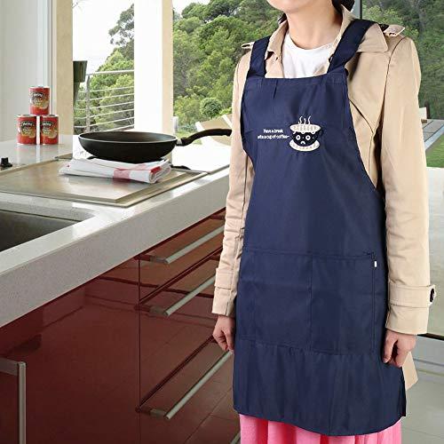Jeanoko Delantal, suave, exquisita, artesanía, eficiente, delantal de chef para mujer, con bolsillos grandes para barras para mujeres