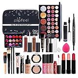 Juego de maquillaje profesional de 27 piezas, juegos de maquillaje, juego de cosméticos todo en uno, juego de regalo de maquillaje, kit de inicio completo, kit de cara y labios